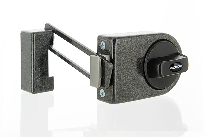 N200 Rim Lock with Door Limiter - Graphite  sc 1 st  Gerda Locks & N200 Rim Lock with Door Limiter - Graphite | GERDA